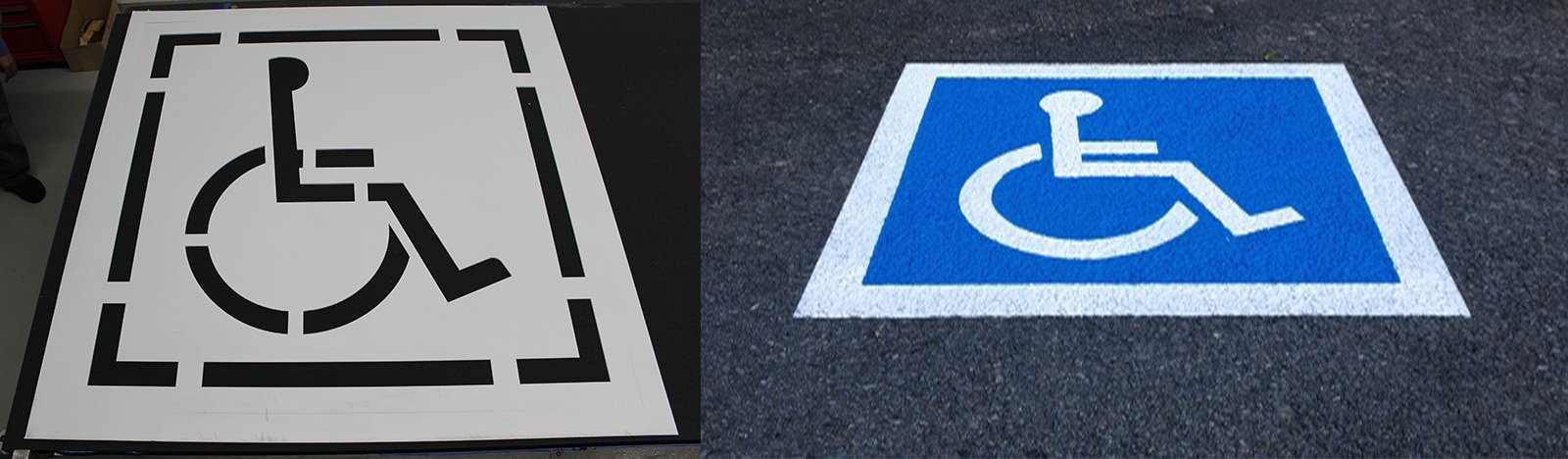 handicap parking stencils - precision cuttings
